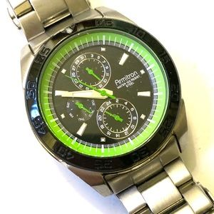 ARMITRON Mens Watch SILVER Green
